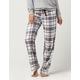 COSMIC LOVE Plum Plaid Womens Flannel PJ Pants