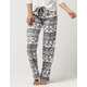 COSMIC LOVE Fair Isle Polar Fleece Womens PJ Pants