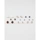 FULL TILT 9 Pairs Antique Stone Earrings