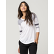SOCIALITE Pieced Womens Football Tee