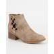 CITY CLASSIFIED Side Bungee Womens Booties