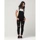 MACHINE Destructed Skinny Womens Overalls