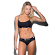 ETHIKA The Black Solid PullOver Bra