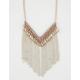 FULL TILT Rhinestone Bead Fringe Necklace