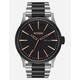 NIXON Sentry SS Black & Silver Watch