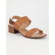 CITY CLASSIFIED Cross Strap Womens Sandals