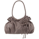 Scrunch Side Flower Handbag