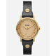 NIXON x Amuse Society Kenzi Leather Black & Gold Watch