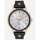 NIXON x AMUSE SOCIETY Sala Leather Black & Gold Watch