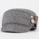Herringbone Button Side Womens Military Hat