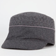 Textured Wool Womens Military Hat