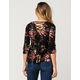 GYPSIES & MOONDUST Floral Lace Up Womens Top