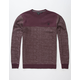 HURLEY Surf Club Lineup Mens Sweatshirt