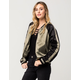ASHLEY Colorblock Satin Womens Bomber Jacket