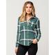 FULL TILT Green Womens Flannel Shirt