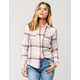 FULL TILT Cream Womens Flannel Shirt