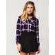FULL TILT Navy Americana Womens Flannel Shirt