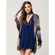 WOVEN HEART Ombre Knit Womens Cardigan