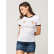 RIOT SOCIETY Peachy Keen Womens Ringer Tee