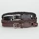 2 Pack Skinny Braided Belts