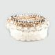 FULL TILT 5 Piece Facet Bead Stretch Bracelets