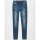 SCISSOR Mid Rise Girls Skinny Knit Jeans