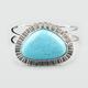 FULL TILT Turquoise Stone Hinged Cuff Bracelet