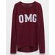 FULL TILT OMG Girls Sweatshirt