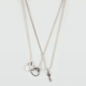 FULL TILT 2 Row Handcuff/Key Charm Necklace
