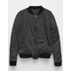 FULL TILT Marled Fleece Girls Bomber Jacket