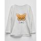 FULL TILT Fox Step Hem Girls Sweatshirt