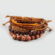 FULL TILT 6 Piece Suede Braid/Beaded Bracelets