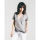 RSQ Raw Edge V-Neck Womens Pocket Tee
