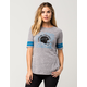 NFL Panthers Womens Raglan Tee