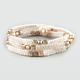 FULL TILT 3 Piece Pyramid Stud Friendship Bracelets