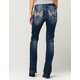 MISS ME Rhinestone Flap Pocket Womens Bootcut Jeans