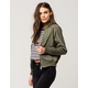 FULL TILT Matte Satin Womens Bomber Jacket