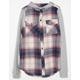 FULL TILT Cozy Girls Hooded Flannel Shirt