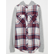 FULL TILT Cozy Girls Hooded Flannel Shirt