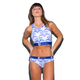 ETHIKA Blue Willow High-Neck Sports Bra