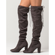DELICIOUS Over The Knee Womens Heeled Boots