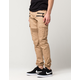 UNCLE RALPH Twill Mens Moto Cargo Jogger Pants