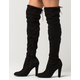 YOKI Over The Knee Womens Heeled Boots