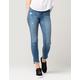 FLYING MONKEY Slant Hem Womens Skinny Jeans