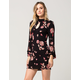 PATRONS OF PEACE Abstract Floral Keyhole Dress