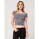 FULL TILT Marled Rib Womens Sweater Tee