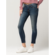 FLYING MONKEY Tinted Womens Ankle Skinny Jeans