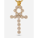 KING ICE 14K Gold Ankh Cross Necklace
