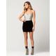 FULL TILT Velvet Bodycon Skirt