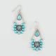FULL TILT Epoxy Turquoise Flower Earrings